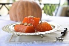 Het dessert van de pompoen Stock Afbeeldingen
