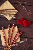 Het dessert van de valentijnskaartendag Royalty-vrije Stock Foto's