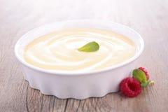 Het dessert van de vanilleroom stock afbeeldingen