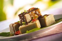 Het dessert van de yamcake Stock Afbeeldingen