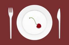 Het Dessert van het dieet royalty-vrije stock afbeelding