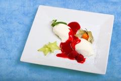 Het dessert van het roomijs Stock Foto's