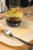 Het dessert van het roomijs met rozijnen Royalty-vrije Stock Foto