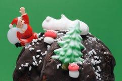 Het Dessert van Kerstmis Stock Afbeeldingen