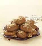 Het dessert van Kerstmis (melomakarona) Royalty-vrije Stock Afbeeldingen