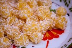 Het dessert van Thailand Stock Afbeeldingen