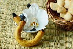 Het dessert van Thailand en geurige of bemerkte die kaars voor rokende snoepjes wordt gebruikt Stock Foto's