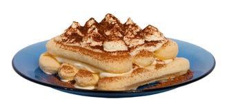 Het dessert van Tiramisu Stock Foto