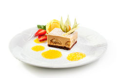 Het dessert van Tiramisu Stock Afbeeldingen