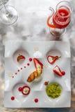 Het dessert wordt gediend Royalty-vrije Stock Foto's