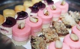 Het dessertdiner van het buffet Stock Foto