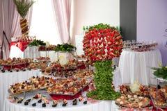 Het dessertlijst van het banket Stock Afbeelding