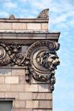 Het Detail van Archirectural van het Hoofd van een Leeuw Stock Afbeeldingen