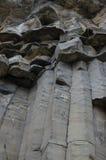 Het detail van basaltkolommen Stock Foto's