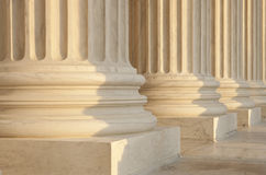 Het Detail van de Architectuur van het Hooggerechtshof van de V.S. Stock Foto