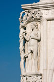 Het detail van de architectuur van het Paleis van Doges in Venetië stock foto