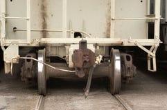 Het Detail van de Auto van de spoorweg Stock Foto's
