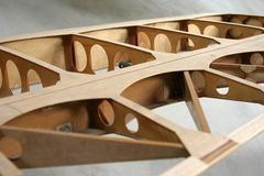 Het Detail van de Bouw van de vleugel stock fotografie