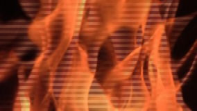 Het detail van de brandvlam stock videobeelden