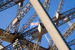 Het detail van de Brug van de Haven van Sydney Stock Foto
