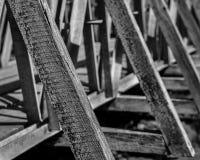 Het detail van de brugsteun Stock Foto's