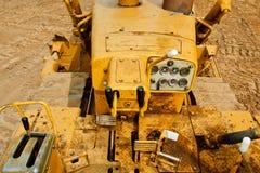 Het detail van de bulldozer Stock Foto's