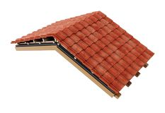 Het detail van de dakbouw 3D Illustratie Royalty-vrije Stock Foto