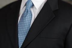 Het detail van de de halsband van de zakenman Stock Afbeelding