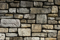 Het detail van de de steenmuur van de besnoeiing Stock Foto