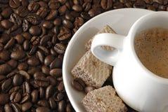 Het Detail van de espresso Stock Foto's