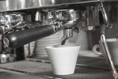 Het detail van de espressomachine Royalty-vrije Stock Afbeelding