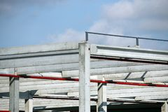 Het detail van de fabrieksbouwwerf Stock Afbeeldingen