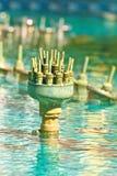 Het detail van de fontein Stock Fotografie