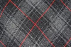 Het detail van de geruit Schots wollen stofdoek Stock Afbeelding