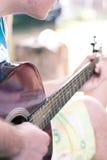 Het detail van de gitaar Royalty-vrije Stock Afbeelding