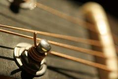 Het detail van de gitaar Stock Afbeeldingen