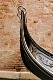 Het Detail van de gondel in Venetië Stock Foto's