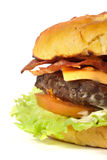 Het detail van de hamburger stock afbeeldingen