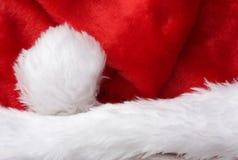 Het Detail van de Hoed van de kerstman Royalty-vrije Stock Foto's