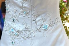 Het detail van de huwelijkskleding Royalty-vrije Stock Foto