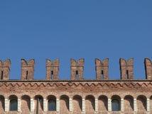 het detail van de kasteelmuur stock foto