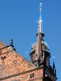 Het detail van de kerk - Kopenhagen, Denemarken Stock Foto
