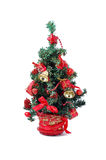 Het detail van de kerstboom Stock Foto's