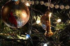 Het detail van de kerstboom Stock Afbeeldingen