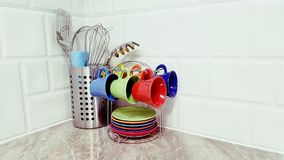 Het detail van de keukendecoratie stock foto