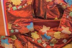 Het detail van de kimonostof Stock Afbeelding