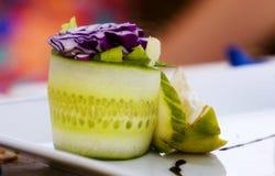 Het detail van de komkommer Stock Foto's