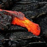 Het detail van de de lavastroom van Hawaï Kilauea stock afbeelding