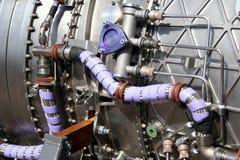 Het detail van de Motor van militaire Vliegtuigen stock afbeelding