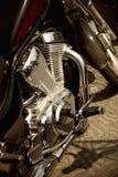 Het detail van de motorfiets Stock Foto